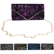 Ladies Printed Envelope Clutch Bag Purse Evening Prom Bag Chain Shoulder Bag