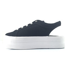 Jeffrey Campbell Zomg1 scarpa donna sneakers in tessuto nero aperta dietro
