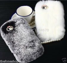 Sweet Look Rabbit Fur Rex Hard shell Back Cover Case For Apple iphone 5