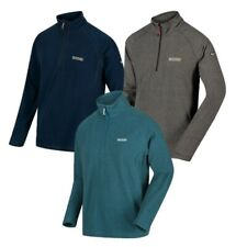 MENS REGATTA MONTES OVERHEAD 1/4 ZIP FLEECE BLUE or GREY RMA212