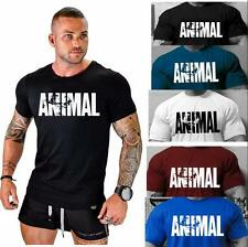 New MENS GYM BODYBUILDING  T-Shirt  WORKOUT CLOTHING TRAINING TOP MOTIVATION
