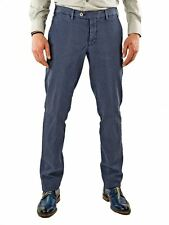 Pantalone Uomo-Chino-Stretch-Microfantasia-Made in Italy-Blu MainApps