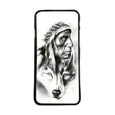 Carcasa de movil funda indio lobo tattoo para iphone samsung lg huawei xperia