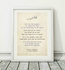 4 sizes Better Together  song lyric poster art typography print JACK JOHNSON