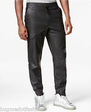 Sport Track Pant Made From Sheep Leather in Black For Men PT8 In Causal Pant