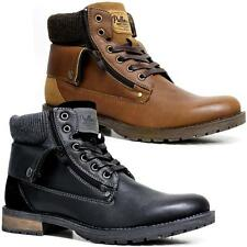 Mens Ankle Combat Lace Up Fashion Cowboy Military Army Biker Boots Shoes Size