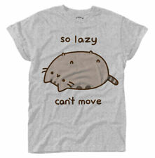 Pusheen 'So Lazy' Womens Roll Sleeve T-Shirt - NEW & OFFICIAL!