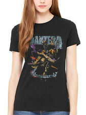 Official Women's Pantera Vintage Rider T-shirt Cowboys From Hell Rock Music Band