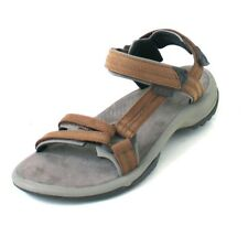 Teva W Terra Fi Lite Leather, Damen Outdoor Sandale, braun, in diversen Größen