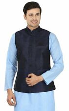Royal Men's Silk Blend Fusion Wear Evening Jacket (ROYAL-2002-NAVY-JACKET-)