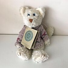 Boyds Investment Collection White Cat Heart Sweater Plush Retired NWT Hang Tag