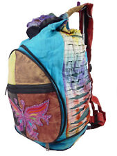 Harlem patchwork Rucksack, ethnic fashion backpack, raser cut style bag SSE08