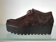 PALOMITAS Scarpe paraboot in camoscio marrone con lacci - MADE IN SPAIN