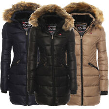 Geographical Norway Giacca Invernale Donna Parka Lungo Cappotto Trapuntata