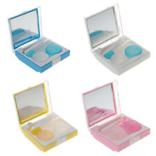 Pocket Size Travel Kit Contact Lens Case Box Vision Care Mirror Holder Container