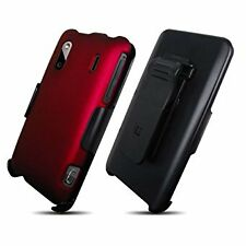 Beyond Cell 3-In-1 Rubberized Plastic Case Holster Screen Protector Kit-Non-Red