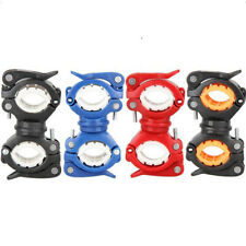 Rotate Cycling Bike Flashlight Bracket Mount Holder Lamp Light Clamp Clip