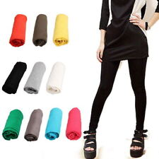 Cotton Elastic Waist Skinny Stretch Candy Color Ninth Leggings Pants for Women