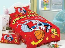New Vintage Bedding set The Looney Tunes Bugs Bunny duvet cover 3pc home kids