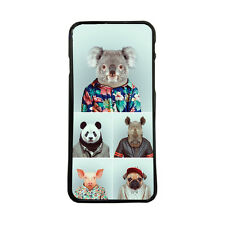 Carcasa de movil funda animales con ropa para iphone samsung huawei lg xperia