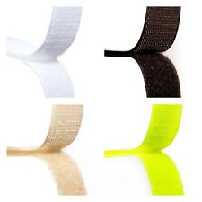 20mm Sew ON Hook and Loop Fastener Tape 5 Meters Both Sides Choice 4 Colours
