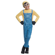 Minion Bob Boys Despicable Me Kids Childs Movie Film Fancy Dress Costume 610784