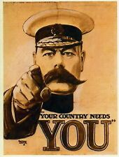 Your Country Needs You. Lord Kitchener Vintage Propaganda. Print/Poster (2685)