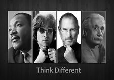 Think Different: Martin Luther King Jr Lennon Jobs Einstein. Print/Poster (821)