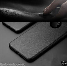 Rich Quality soft Leather Look TPU back cover case for Apple iphone 7