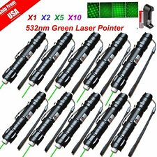 Lot 1~10 Military 5 Miles 532nm Green Laser Pointer Pen Visible Beam Lazer