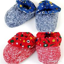 Blue or Red Sports Football Baby Boy Girl Shoes Slipper Booties 6-9-12-18 Months
