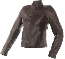 DAINESE MIKE PELLE LADY MARRONE ELEGANTE DONNA MOTO PELLE GIACCA protettore