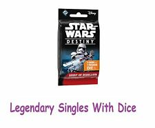 Star Wars Destiny - Spirit of the Rebellion - Legendary Singles with Dice