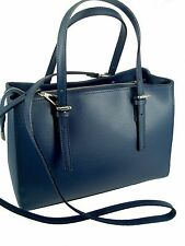 borsa donna in vera pelle made in italy nuova bag leather due manici tracolla