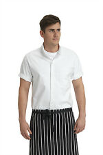 REDUCED Le Chef Prep Contemporary Relaxed Chef Shirt DF116ES - White
