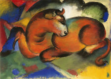 Franz Marc: The Red Bull. Art Print/Poster (3302)