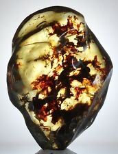 GREAT BLUE! Full Polished Mexican Amber 91g
