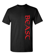 Red Beast Black Top Gym Workout Muscle Fitness Bodybuilding Men's Tee Shirt 1631