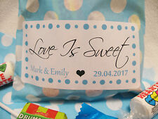 Personalised Wedding Favour Sweet Hen Birthday Candy Party Bag Polka Dot Striped