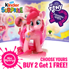 My Little Pony Equestria Girls Kinder Toys Fluttershy Pinkie Pie Cake Toppers