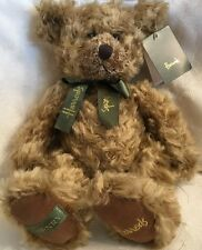 NWT Harrods Knightsbridge Vintage Henry Teddy Bear Green Bow Plush Collectible