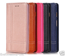 Stylish Magnetic Card Stand Wallet Leather Flip Cover For Apple iPhone 6 Plus
