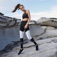 Fashion Women Stretch Black and White Yoga Pants Leggings Gym Fitness Pants
