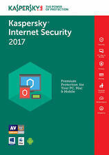 Kaspersky Internet Security 2017 / 2018 (1PC, 2PC, 3PC, 5PC, / Device 1/2 Year )