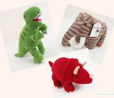 Knitted Large Dinosaurs T Rex Triceratops Woolly Mammoth Soft Baby Cuddly Toys