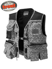 Wychwood NEW Camo Multi Pocket Padded Breatable Long Fly Fishing Vest - Free P+P