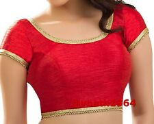 Ready to Wear Saree Blouse, Readymade Saree Blouse, Red Padded Readymade Blouse