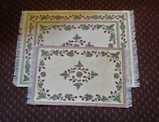 Lot of 2 dollhouse miniatures Rug room area rugs