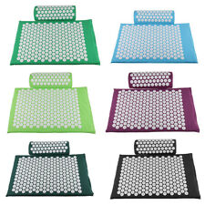 Massage Acupressure Mat Pillow Set Meditation Yoga Lying Mat Cut Stress Soreness