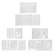 5 Pieces Multifunctional Plastic Drawing Template Drawing Decor Craft